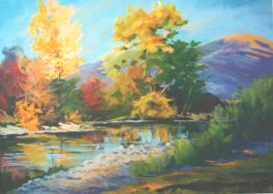 Осінь на річці Латориця, 2013, п.о., 60х80