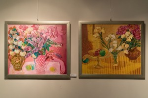 Diptych 'Bouquets', oil on canvas, 60x70