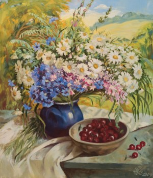 M. Myrtryk Still life with cherries