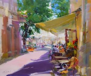 Etud. Pleasent Talks 2013 oil on canvas 40x50.