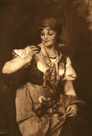 Маленьке червоне яблуко, 1890