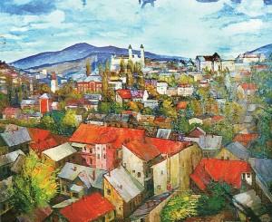 Ужгород, місто моє.., 1996, п.о., 100х130
