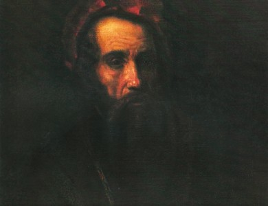Samuel van Hoogstraten. Portrait of a man in the red beret