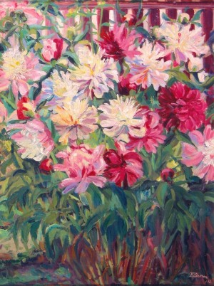 Roses, 1968, oil on canvas, 80x60