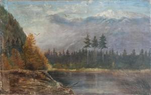 S. Silvai Carpathian Mountain Landscape', oil on canvas