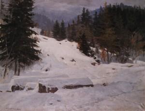 Перший сніг, 1952, п.о. 75,5х95