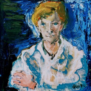 Yurko, from the photo archive of Y. Nebesnyk, 1990, oil on canvas, 69x69