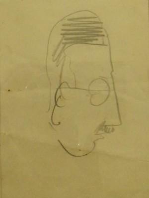 Дружній шарж. Портрет Ласло Балли