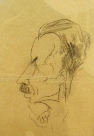 Дружній шарж. Портрет скульптора Василя Свиди