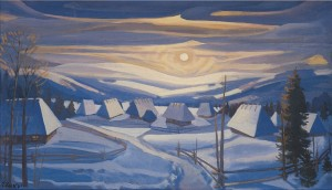Christmas Eve, 1996, oil on canvas, 60x100