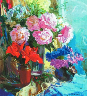 Still life With Roses, 2010, oil on canvas, 70x80