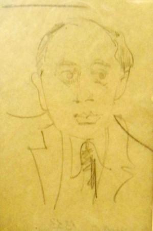 Дружній шарж. Портрет художника Еміля Грабовського