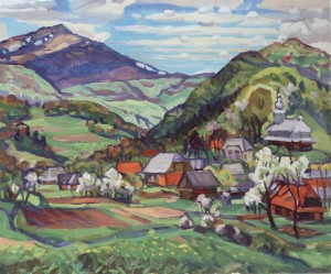 Bilasovytsia Village, 2006, oil on canvas, 75x90