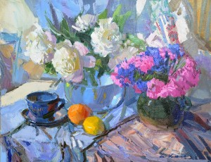 Still life With Peonies, 2011, oil on canvas, 50x70