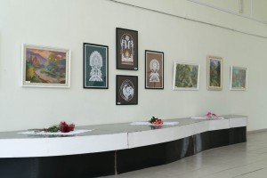 EMMA LEVADSKA PRESENTED THE RETROSPECTIVE EXHIBITION OF WORKS ON THE OCCASION OF HER JUBILEE IN UZHHOROD