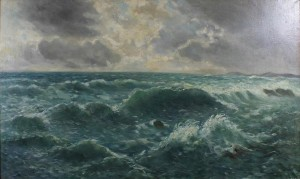 Stormy Sea, oil on canvas, 70x120