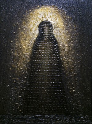 László Vinceffy The Black Madonna mixed technique, canvas 80х60