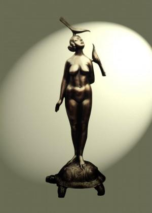 'Розмова', 2003, бронза, 70х24х15