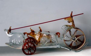 Chariot, 2010, authors technique, coloured and colourless glass