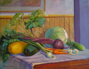 From The Garden, 2015, oil on canvas, 55 x 70