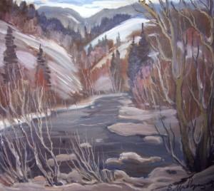 Зима, 2004, п.о., 65х80