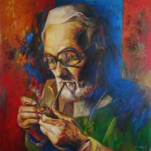 Портрет Микити В.В., 2010, п.акр.о., 85х85