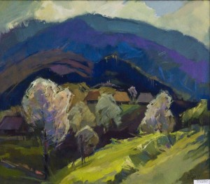 Spring In The Carpathians, 2017, oil on canvas, 70x80