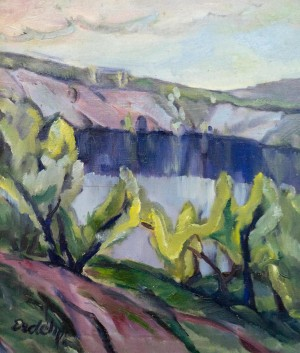 By the Lake (Willows Above Water), 1930s, oil on canvas