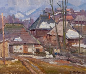 Village Yard, 1984, oil on canvas, 60x70