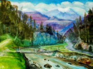 Winter Is Coming, 1998, watercolour on watman, 60х85