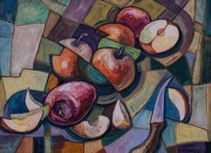 Habor Homoki, Still life with apples