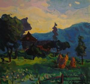 У горах, 2013, п.акр., 50х50