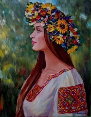 Українка. п.о. 90х70