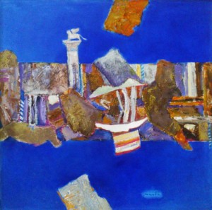 Recollections Of Venice, 2013, oil on cardboard