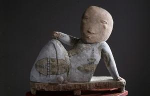 Попова Н. Рівновага, 2012, шамот, поливи, ангоби, 38х35х15