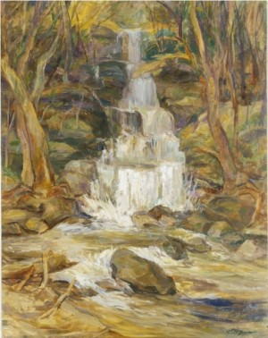A Waterfall, 1990, oil on canvas, 82,5х65