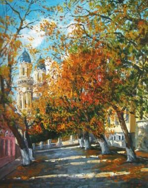 Стара вулиця в Ужгороді, 2012, п.о., 60х70