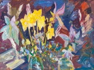 Y. Yehorova-Rohova 'Magnolias And Daffodils', 2016