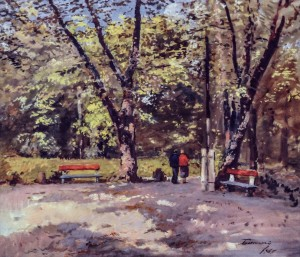 Park In Uzhhorod, 1967, oil on canvas, 75х87