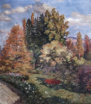Park In Chertezh, 1941, oil on canvas, 115x100
