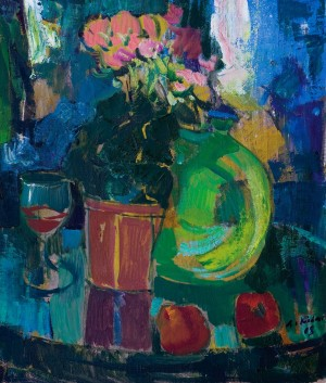 Still life With Green Vase, 2008, oil on canvas, 60,5x51