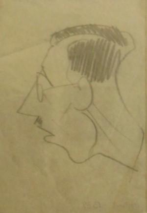 Дружній шарж. Портрет художника Федора Хохлова