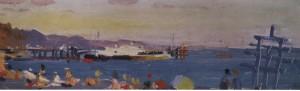 Пляж вдень, 1956, к.о. 13х35