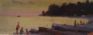 Пляж у Хості, 1956, к.о. 12х35