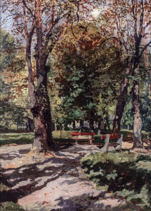 Park. Autumn, 1943, oil on cardboard, 97x70
