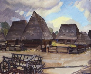 Symko's Farm, 1965, oil on canvas, 65х80