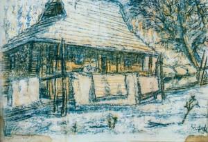 Стара хата, 1968, пап.монот. 35х48