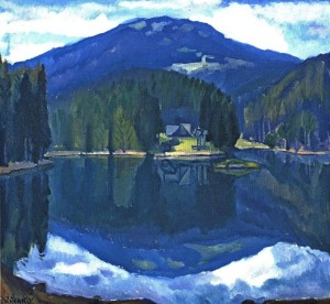 Synevyr Lake, 1982, oil on canvas, 80x110