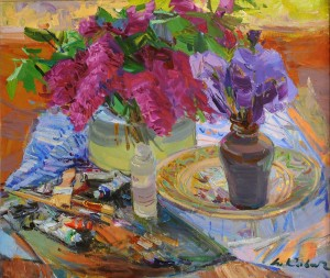Still life With Palette, 2011, oil on canvas, 60x70