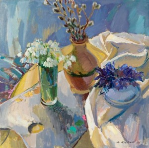 Still life With Palette, 2000, oil on canvas, 60x60